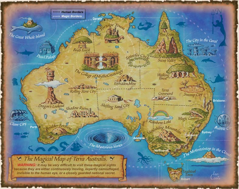 Australian Map Magical by Ian Coate