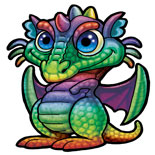 Rainbow Dragon Mini Mythic